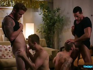 Big dick son foursome and cumshot