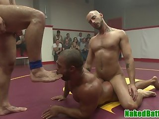 Black stud assfucked after wrestling