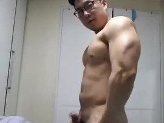 Older Korean Guy Jerks off and cums