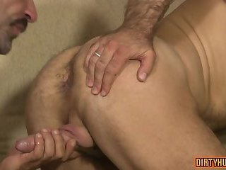 Muscle bear bareback with cumshot