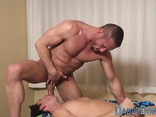 Muscly stepdad throated