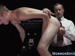 Mormon elders ass pegged