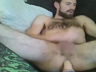 Hairy dude fucks his loose cunt