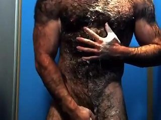Hot ass Sasquatch hairy beast showers