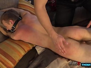 Hot twinks spanking with cumshot