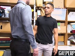 Security officer destroys young Latino shoplifters ass