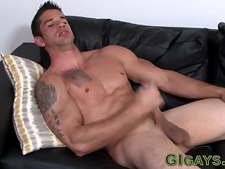 Muscular amateur stroking