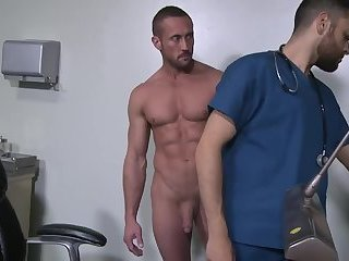 Young doctor gets fucked by a hot muscle daddy on his first day..Jamesxxx7