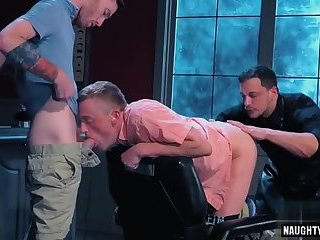 Tattoo gay anal fisting and cumshot