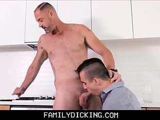 Horny Twink Step Son Blowjob For Step Dad