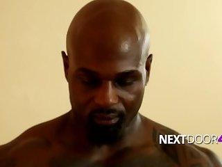 Pornstar Beau Reed serves black man