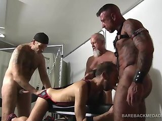 Foursome Barebacking Sex Orgy