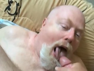 Daddy loves hot cum in his mouth