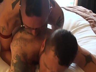 Barebackin' Leather 3some