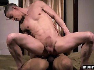 Latin gay bareback and cum eating