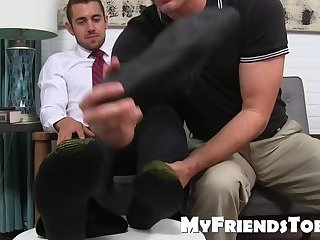 Deviant dude loves the smell of dirty socks and bare feet