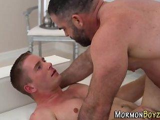 Mormon hunks ass railed