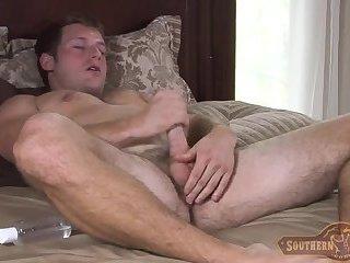 Billy strokes his cock