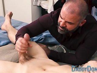 Bear tugs twinks cock