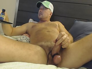 Hit the poppers and watch daddy's nads explode