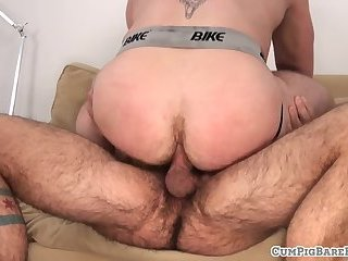 Stud ridden by ginger bear before cumming