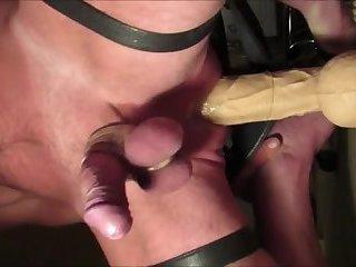 Balls deep 15 Inch penis Rambone Prostate Milking