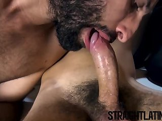 Hairy jocks suck each others dick before wild bareback sex