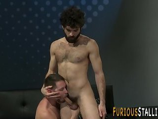 Hairy stud facialized
