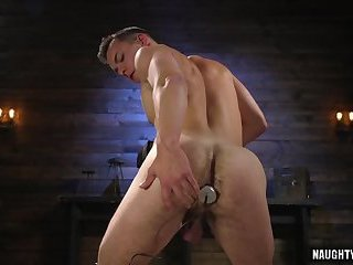Hot slave dildo and cumshot