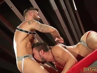 Muscle bear domination and cumshot