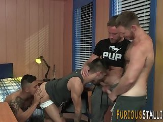 Buff hunks ass fucked