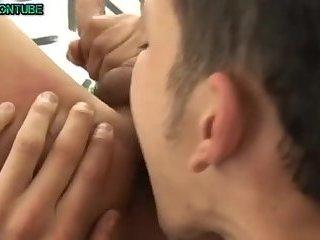 Hot Gay Bareback Sex in Warehouse Eatcum