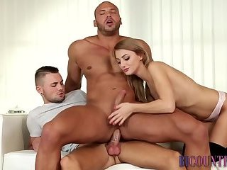 Bisexual hunk riding cock