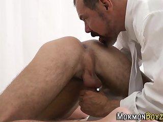 Horny mormon eating ass