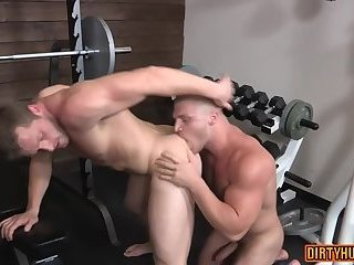 Muscle gay foot fetish and cum eating