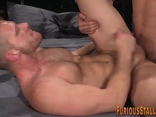 Muscled fucked stud cums
