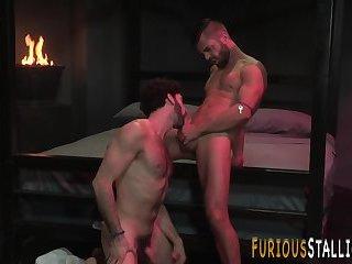 Buff stud gets ass railed