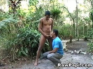 Lucky Guy Sucks Long Cock and Fucks Juicy Ass