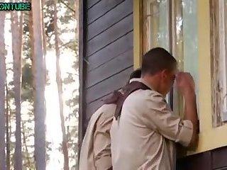 In camp trio boyscouts bareback sex and cums