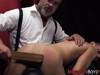 Mormon hunks ass spanked