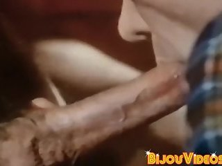 Vintage homosexual guy takes turn sucking big hairy dicks