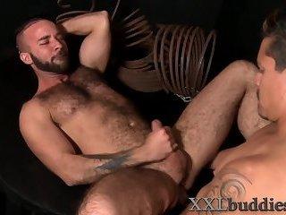 Hunk nailed with big dick