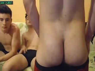 Big Party Twinks Jerking with Big Cocks