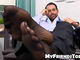 Classy stud takes you to your feet fetish dream