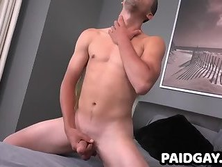 First time jerking on cam for straight Jared Marzdon