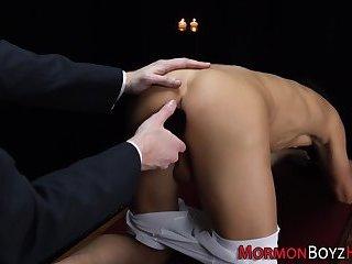 Mormon elders ass toyed