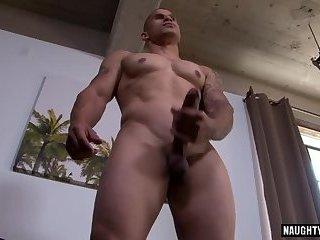 Big dick gay rimjob and cumshot