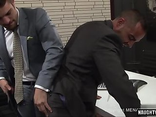 Latin gay spanking with cumshot