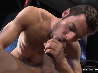 gay anal porn scene stars a hot hunk with hairy chest