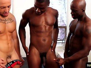 Sixpack black stud getting spitroasted